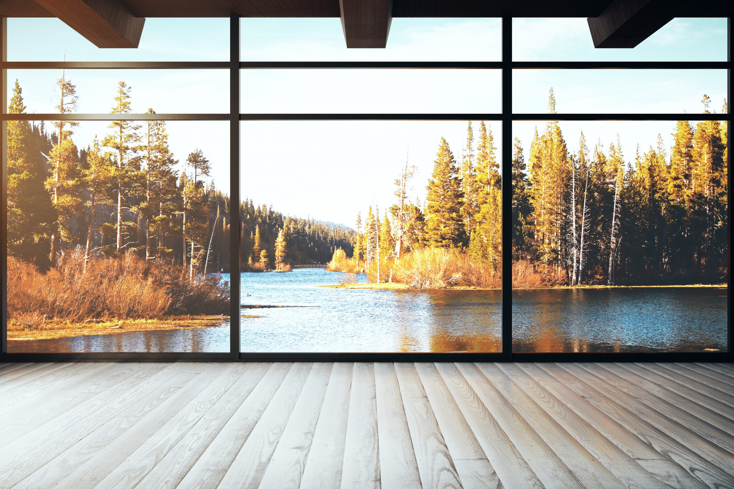 beautiful-view-of-a-lake-through-a-clean-window