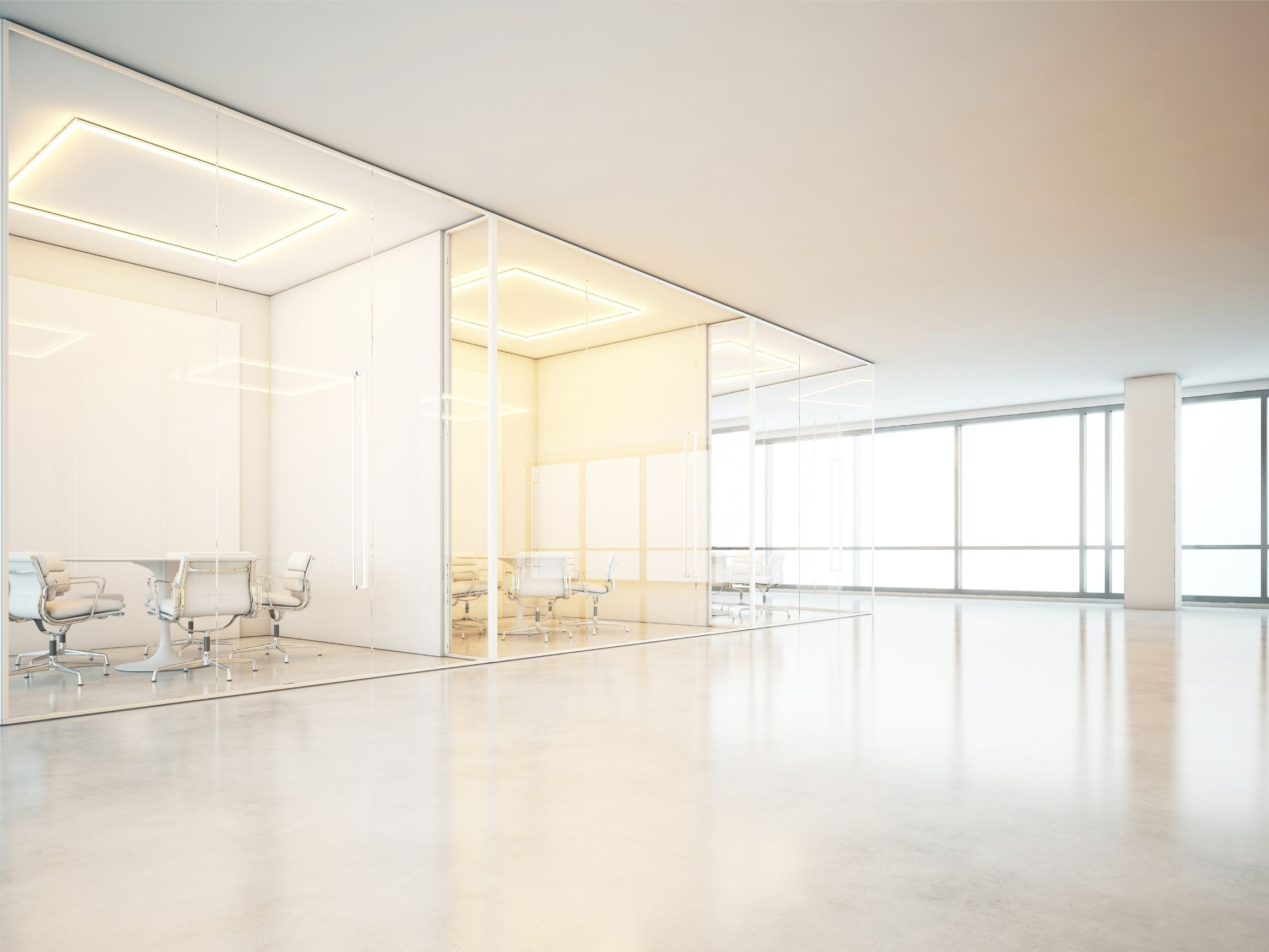 commercial office with clean windows and floor in Halifax NS